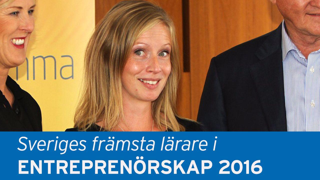 Sandra Magnusson prisad lärare i entreprenörskap