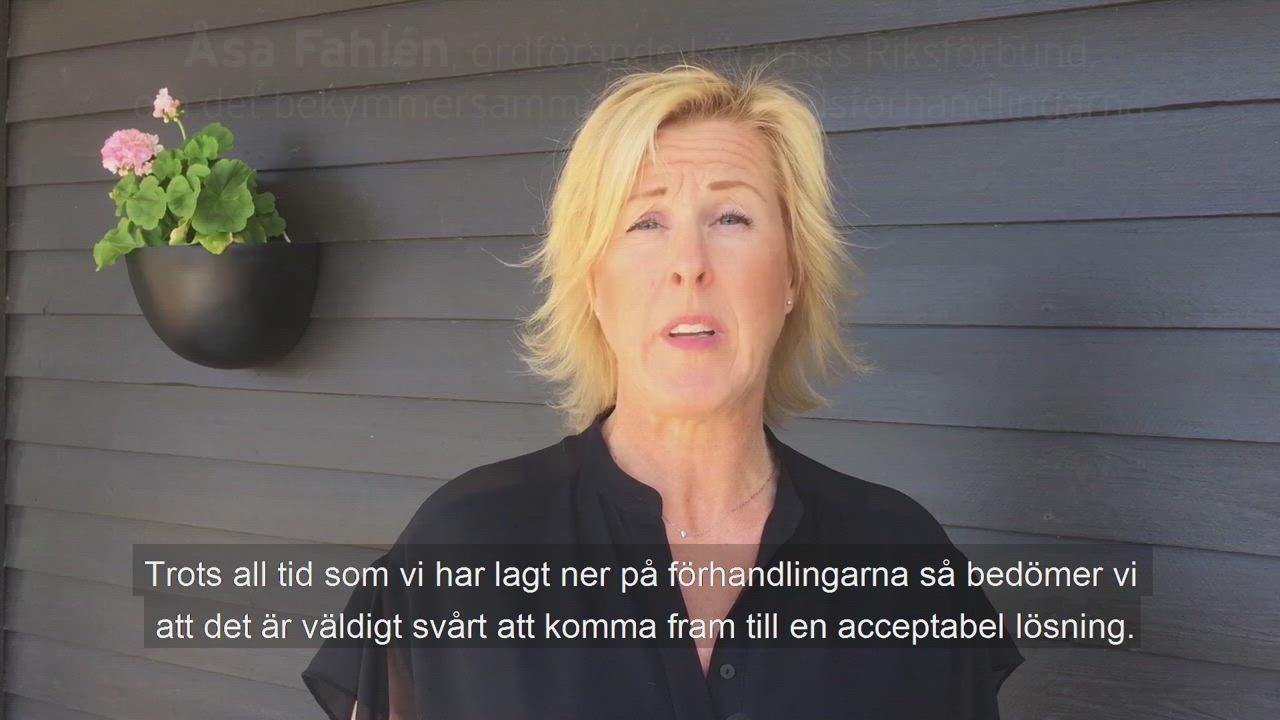 Åsa Fahlén: Läget är bekymmersamt